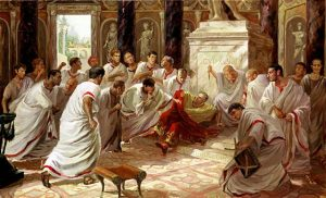 The assassination of Caesar